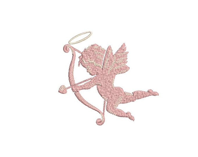 Cupid Machine Embroidery File design - 4x4 inch - valentines embroidery design - Love embroidery