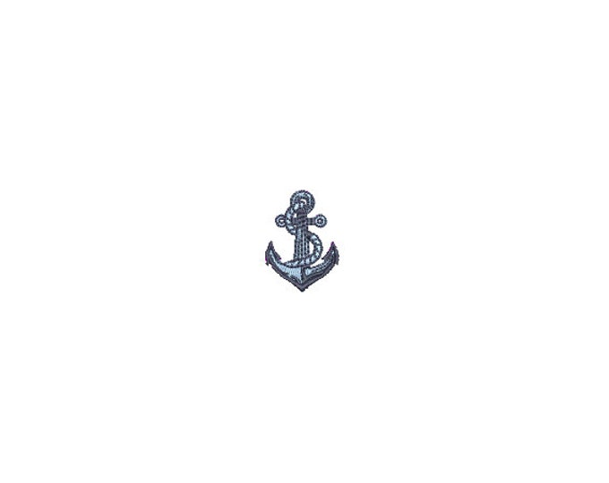 Mini Anchor Machine Embroidery File design - 4 x 4 inch hoop  - instant download - 3cm
