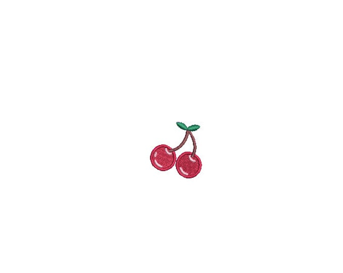 Mini Cherries Machine Embroidery File design - 4 x 4 inch hoop  - instant download - 3cm