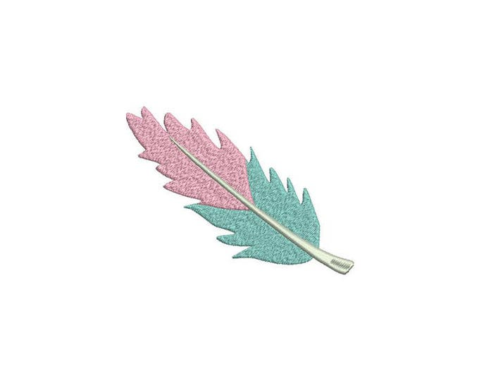 Machine Embroidery Feather - Machine Embroidery File design - 5x7 hoop