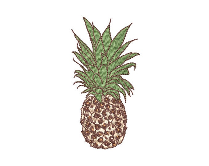 Leopard Pineapple Embroidery - Machine Embroidery Tropical Pineapple Embroidery File design 4x4 hoop
