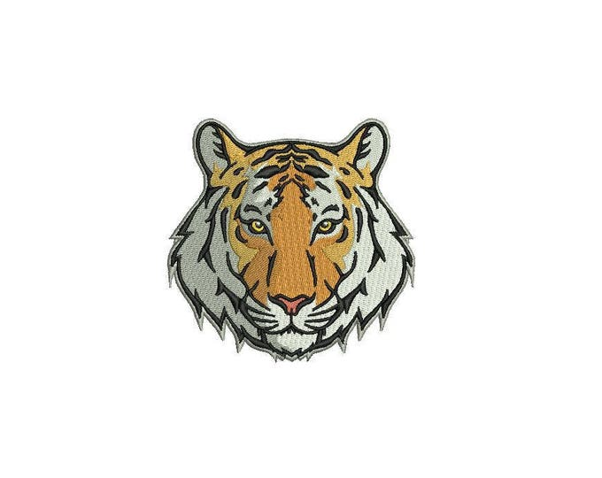 Tiger Face Urban Modern Machine Embroidery File design 4x4 inch hoop - 6cm