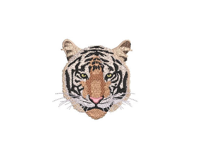 Realistic Tiger Head Machine Embroidery File design - 4x4 inch hoop - Tiger Face - instant download