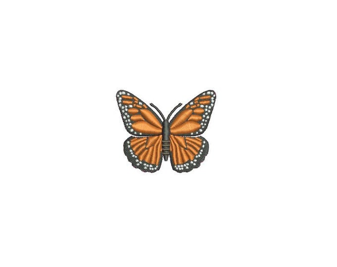 Orange Butterfly 1 Machine Embroidery File design 4x4 inch hoop - Mini 5cm