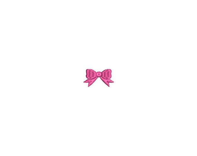 Mini Bow Machine Embroidery File design - 4 x 4 inch hoop - Mini bow 5