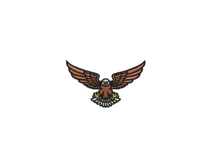 Eagle  - Machine Embroidery File design - 4x4 inch hoop - Cap design - patch design
