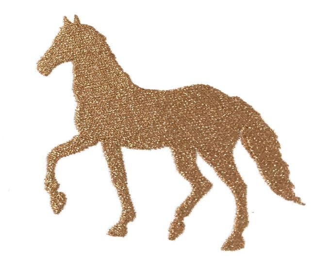 Horse Silhouette -  Machine Embroidery File design - 4 x 4 inch hoop - Pony Embroidery Design