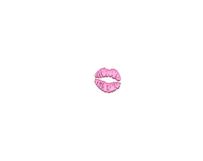 Mini Kissing Lips Machine Embroidery File design - 4 x 4 inch hoop  - instant download - 3cm