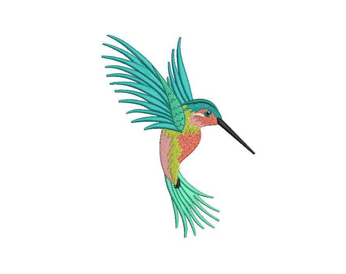 Hummingbird Embroidery - Machine Embroidery Hummingbird Machine Embroidery File design 5x7 inch hoop