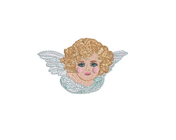 Cherub Embroidery Design - Machine Embroidery File design - 4x4 inch hoop - instant download - Angel Embroidery