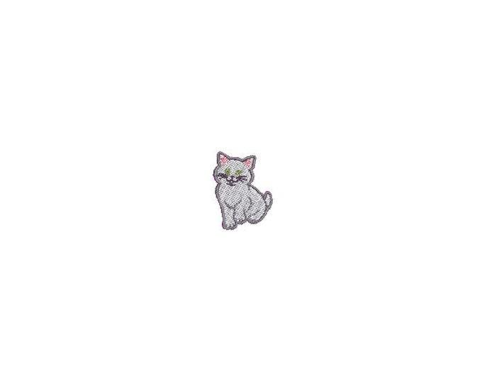 Mini Kitten Machine Embroidery File design - 4 x 4 inch hoop  - instant download - 3cm