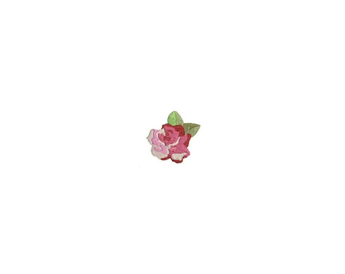 Rose Machine Embroidery File design - 4 x 4 inch hoop - dad cap design - mini rose design