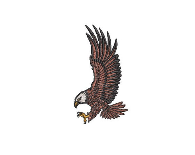 Eagle Two  - Machine Embroidery File design - 4x4 inch hoop - Cap design - patch design