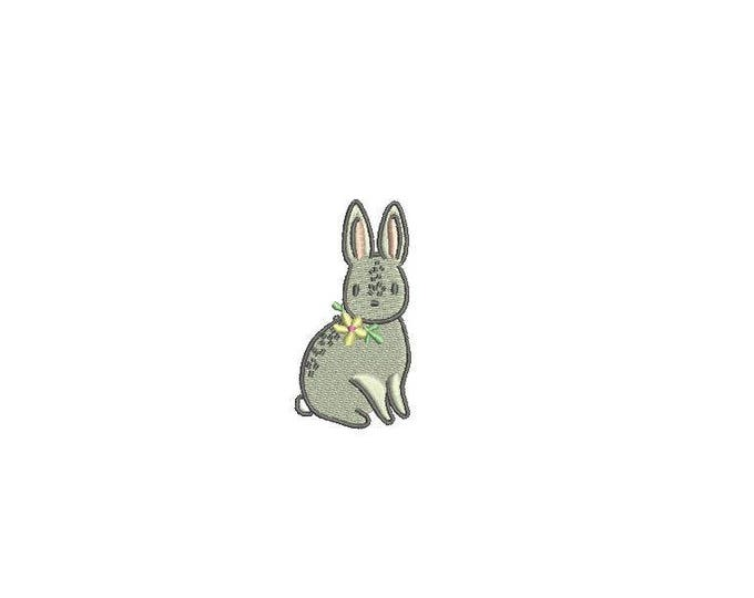 Mini Bunny Embroidery - Machine Embroidery File design 4 x 4 inch hoop