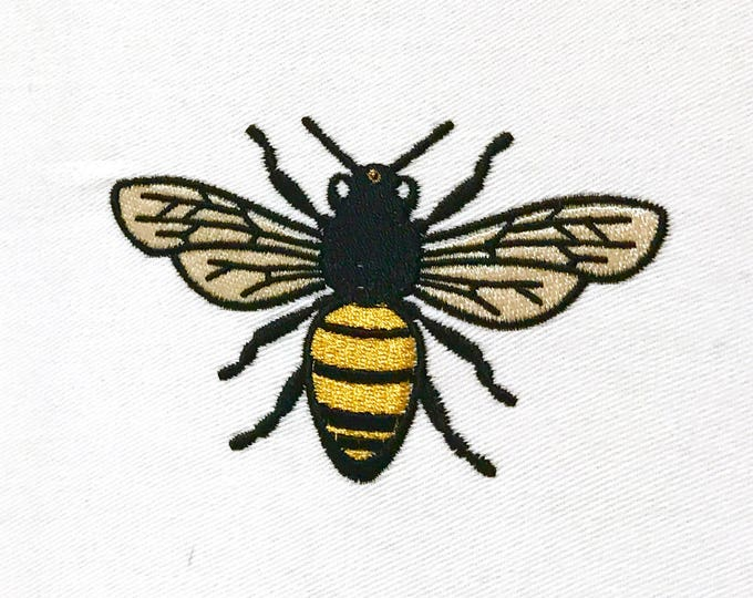 Bee embroidery - Machine Embroidery File design 4 x 4 inch hoop