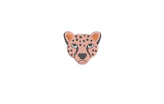 Mini Leopard Face Machine Embroidery File design - 3x3 inch hoop - Leopard Mini Machine embroidery