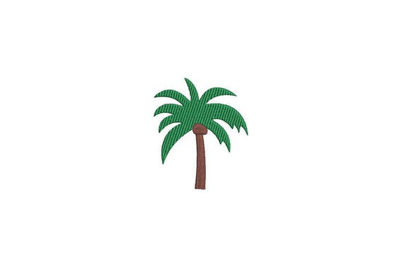 Palm Tree Machine Embroidery File design - 4 x 4 inch hoop - Palm Silhouette - instant download