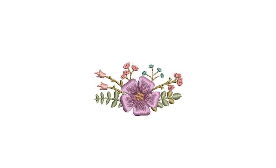 Tiny Flowers Machine Embroidery File design - 3 x 3 inch hoop - Mini flower embroidery