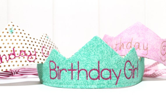 ITH In The Hoop Birthday Girl Crown Tiara Machine Embroidery File design 7x12 hoop