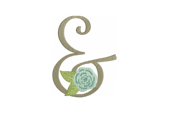 Whimsical Ampersand Machine Embroidery File design 5x7 inch hoop