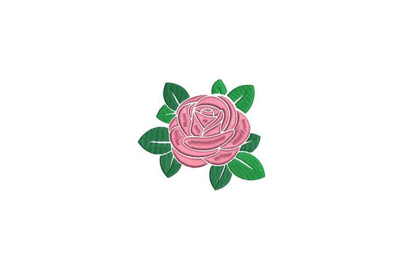 Rose Embroidery - Satin Rose Machine Embroidery File design - 4 x 4 inch hoop - Rosette - Rose Silhouette