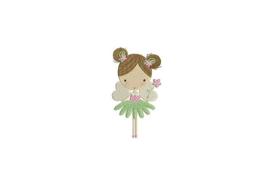 Flower Fairy Doll Machine Embroidery File design 4x4 inch hoop - Flower Fairy 3