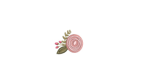 Mini Rosette Machine Embroidery Design - 5cm - 3 x 3 inch hoop - Instant Download - 2 inches
