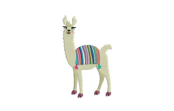 Llama Alpaca Machine Embroidery File design 5x7 inch hoop - instant download