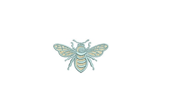Bee Embroidery - Mini Bee Machine Embroidery File design - 3 x 3 inch hoop - Pastel Bee