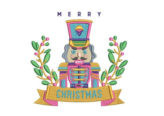 Nutcracker Christmas Embroidery - Xmas Machine Embroidery File design - 5x7 hoop - instant download - Nutcracker Soldier