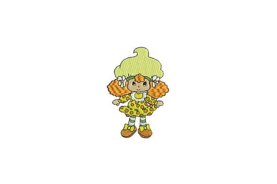 Vintage Lemon Meringue Doll Machine Embroidery File design 4x4 inch hoop - instant download