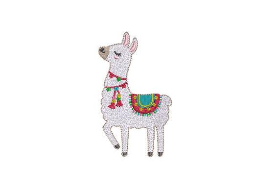 Llama Tassels Machine Embroidery File design - 4x4 inch hoop - instant download - Xmas Design