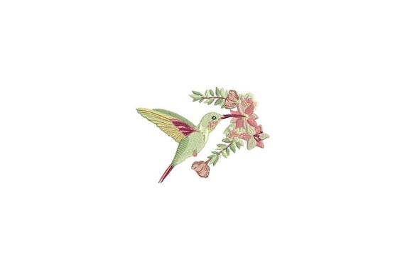 Hummingbird Machine Embroidery File - 4 x 4 inch hoop - Bird embroidery file - Machine Embroidery Design digital download