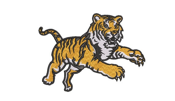 Tiger Embroidery Design - Machine Embroidery File design  - 8x12 inch hoop - Instant download