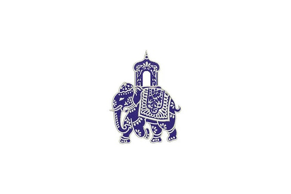 Chinoiserie Chic Monogram Elephant Machine Embroidery File design 4x4 hoop - instant download