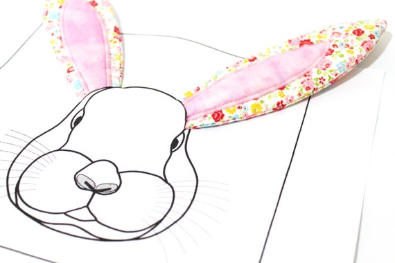 Easy ITH In The Hoop  BUNNY EARS Machine Embroidery Design 5x7 inch hoop