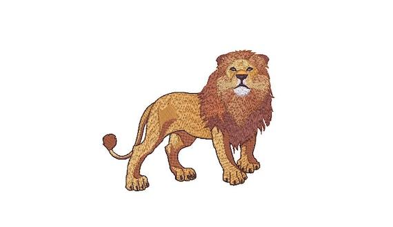 Lion Machine Embroidery File design - 6x10 inch hoop  - instant download - Embroidery machine design