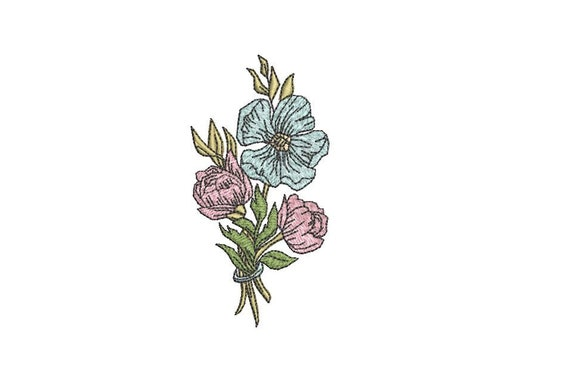Machine Embroidery Flower Posy Posie Machine Embroidery File design 4 x 4 inch hoop