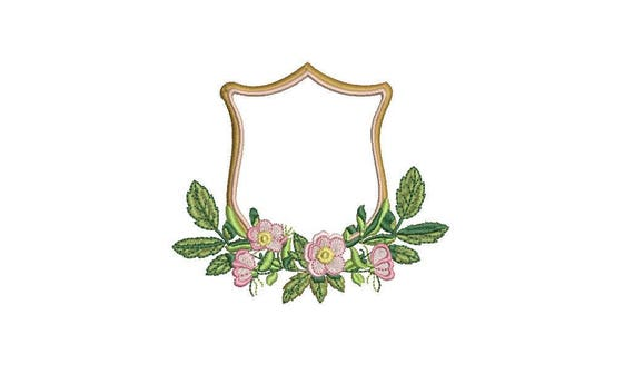 Magnolia Crest Machine Embroidery File design 4x4 inch hoop - Monogram Frame