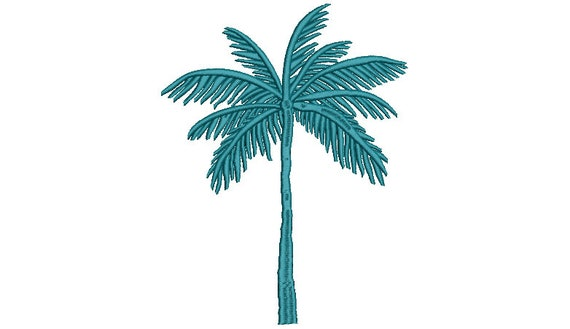 Palm Tree Machine Embroidery File design - 7 x 12 inch hoop - Palm Silhouette