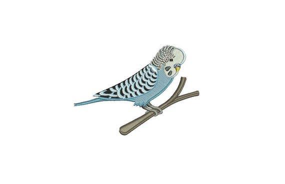 Budgerigar Budgie Bird Machine Embroidery File design 4x4 hoop - download