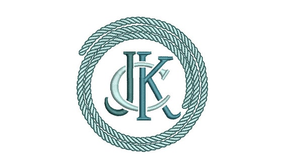 Circle Rope Machine Embroidery File design - 4x4 inch hoop - Monogram Frame - Embroidery Font