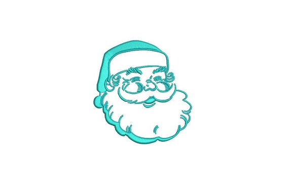 Christmas Xmas Santa Machine Embroidery File design 4x4 inch hoop - instant download