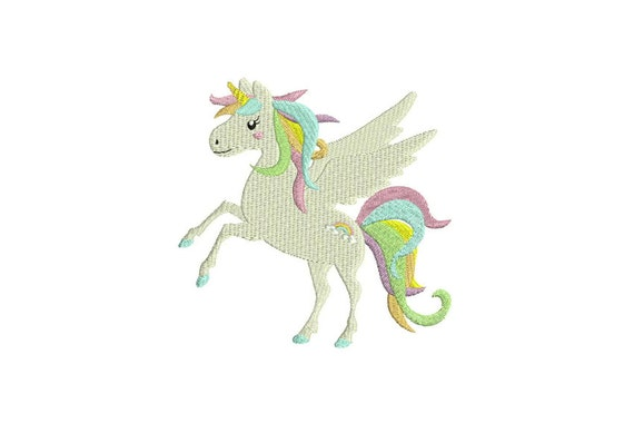 Unicorn Embroidery Design - File design 5x7 inch or 13x18cm hoop  - Instant Download