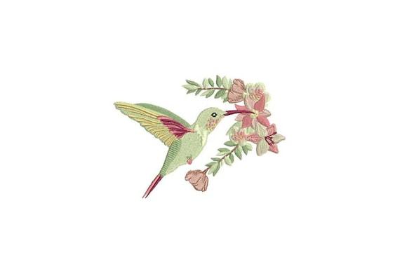 Hummingbird Machine Embroidery File - 5 x 7 inch hoop - Bird embroidery file - Machine Embroidery Design digital download