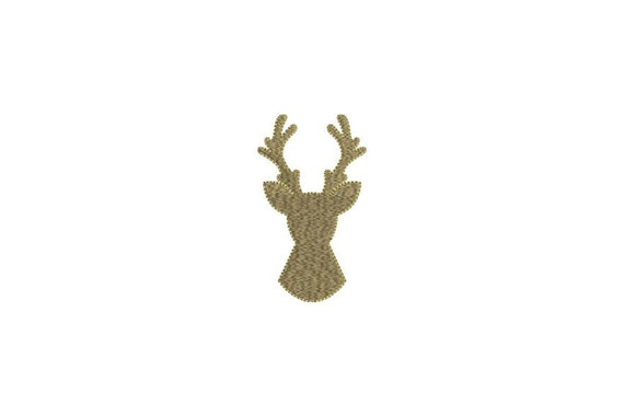 Christmas Reindeer Embroidery - Deer Silhouette Machine Embroidery File design 4x4 inch hoop - instant download