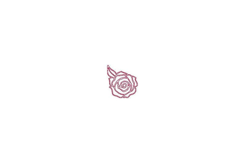 048bd5fe Mini Sketch Rose Outline Machine Embroidery File design 4 x | Etsy