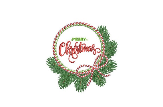 Christmas Bow Embroidery - Machine Embroidery File design - 4x4 inch hoop - Christmas Embroidery Design