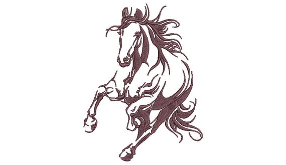 Horse Machine Embroidery File design - 5x7 inch or 13x18cm hoop - Machine Embroidery - Digital Download