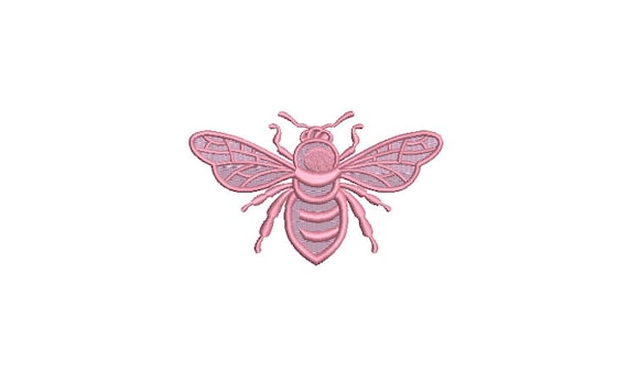 Pastel Bee embroidery - Machine Embroidery File design - 4 x 4 inch hoop - Bee Embroidery Design